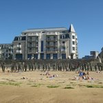 Hotel seen from the beach