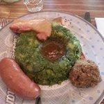 Stamppot di carne con spinaci