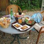 diner souper au jardin
