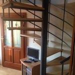 Bottom floor staircase in duplex apartment