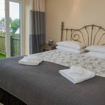 A deluxe room in one of our cottages.