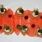 Balik Smoked Salmon for a Starter.