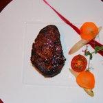 Steak of the Day Josper grilled,steak fries,hoe made A1 sauce
