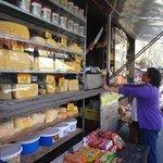 Cheese shop at Feria de Tristán Narvaja.