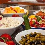 buffet des hors d'oeuvres frais et variés