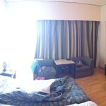 room 418 panoramic view (forgive us for the mess)