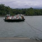 Ferry crossing the river to Cape Tribulation. .