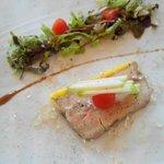 Assiette de foie gras mi-cuit