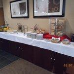 The buffet breakfast area