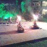 Entertainment by folk group.