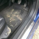 State of my car after being in hotel's hands...