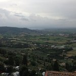 vue sur le lac Trasimeno depuis la chambre