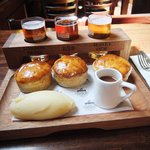 Three Pie and Ale Tasting Platter