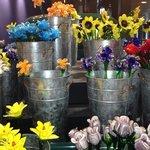 Glass flowers bing smiles.