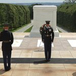 Changing of the guard at The Tomb of the Unknowns.