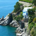 Villa San Michele is built on the cliffside and features amazing views