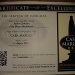 Caskmarque certification