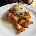 pork medallions with roasted potato