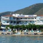 отель Астория, вид с моря