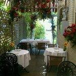 """The """"Secret Garden"""" outside dining"""