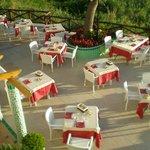 La terrazza pronta per la cena