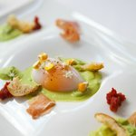 Poached Duck Egg, Asparagus Fondue