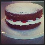 Strawberry, cream and mint victoria sponge!