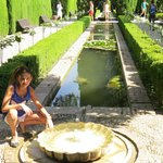 Les jardins d'Alhambra à Grenade