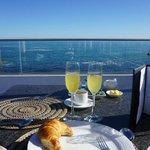 Balcony dining at Azure