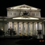 NIGHT VIEW IN FRONT OF RENOVATED BOLSHOI THEATRE AS SEEN IN JULY 2014.