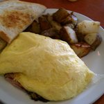 This is the Ham and Cheese omlet..real ham