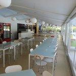 Sala interna completa del ristorante Adriatico