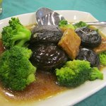 Braised Broccoli, Mushroom and Tofu