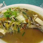 Steamed Fish cooked Teochew Style