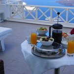 Our breakfast with this amazing view