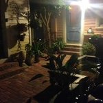 evening in the front courtyard