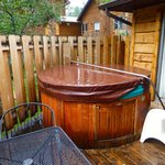 Hot tub on Blue Spruce