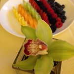 Ritz class with fresh fruits and orchards! Lovely!!!