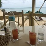 Rum punch and water