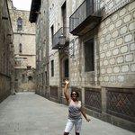 Feliz en Barrio Gotico Barcelona España!!