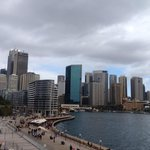 View of Sydney from the Opera House balcony
