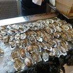Banc d'huîtres au buffet du soir