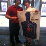 Me and Mike with the target.