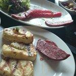 Halloumi and Turkish sausage starters