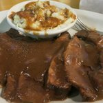 poor choked and smothered brisket