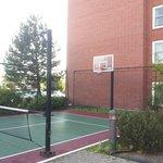 A small Tennis / Basketball court