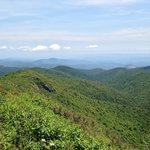 View from Art Loeb Trail at Tenant Mt.