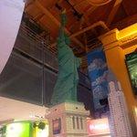 Lady Liberty made of Legos