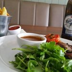 Steak and great beer... what more could you want.