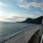 Relaxing ferry ride from Vancouver Island away from the crowd inside